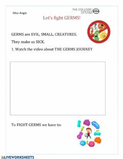 Interactive worksheet Let's fight germs!
