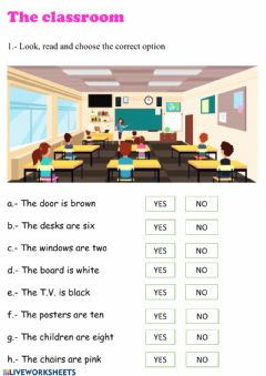 Interactive worksheet The classroom