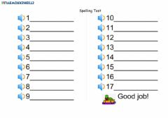 Interactive worksheet Bookworms - Spelling List (March 30-April 3)