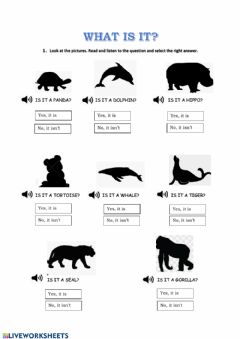 Interactive worksheet What is it? (Animals)
