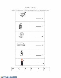 Interactive worksheet Phonetics an Family
