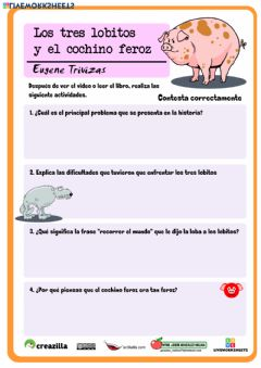 Interactive worksheet Los tres lobitos y el cochino feroz 2