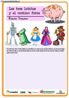 Interactive worksheet Los tres lobitos y el cochino feroz 3