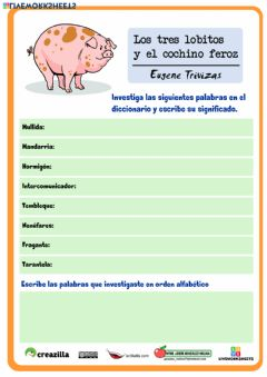 Interactive worksheet Los tres lobitos y el cochino feroz 5