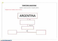 Interactive worksheet Territorio Argentino
