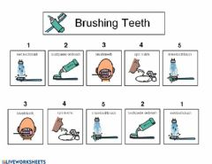 Interactive worksheet Brushing Teeth