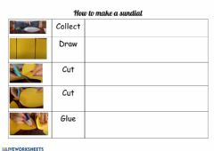 Interactive worksheet How to make a sundial