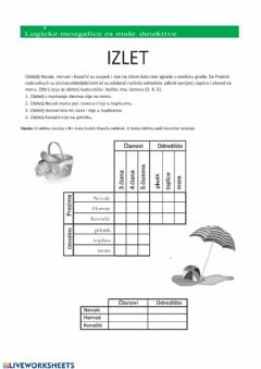 Interactive worksheet Integram - izlet