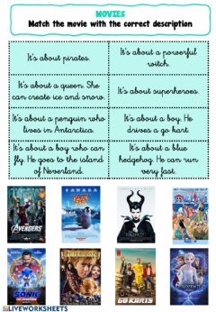 Interactive worksheet Movies - Page 2