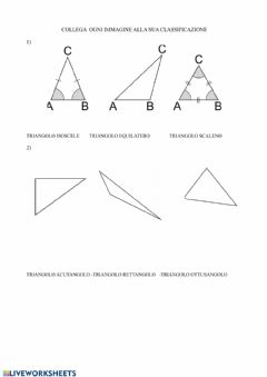 Interactive worksheet Poligoni
