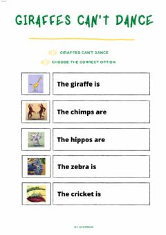Interactive worksheet Giraffes can't dance