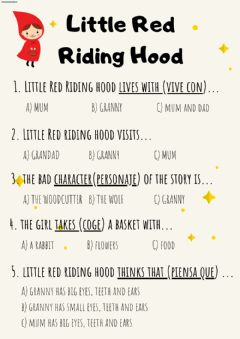 Ficha interactiva Little Red Riding Hood - Reading Comprehension