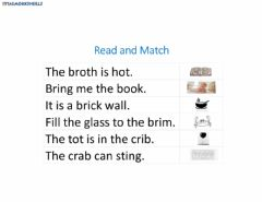 Interactive worksheet Read and Match - Initial Blends