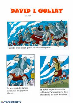 Interactive worksheet David i goliat
