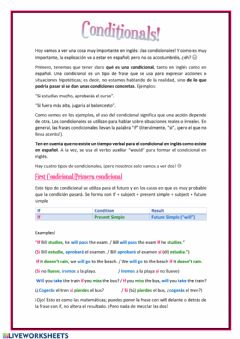 Ficha interactiva First and Second Conditionals