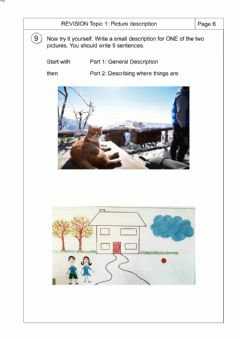 Interactive worksheet Picture description