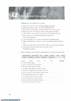 Interactive worksheet Personality vocabulary