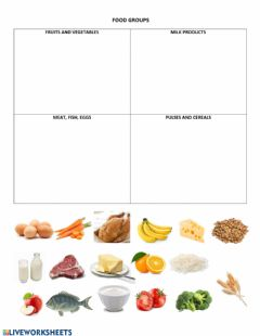 Interactive worksheet Food Groups