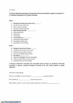 Interactive worksheet The ways of travelling