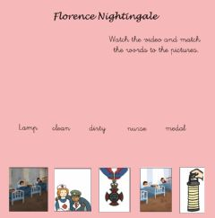 Interactive worksheet The story of Florence Nightingale