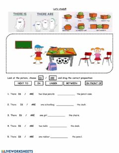 Interactive worksheet Preps - There is- are
