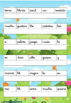 Interactive worksheet Lengua