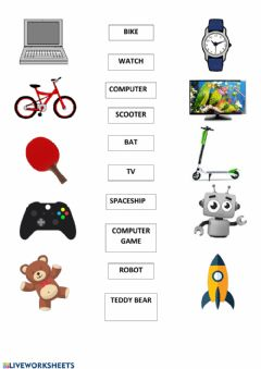 Interactive worksheet Favourite things and toys