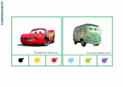 Interactive worksheet Colores coches CARS