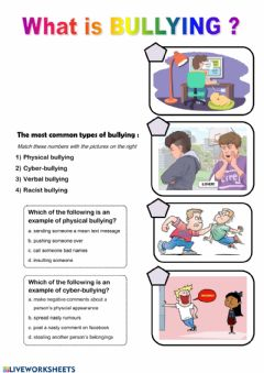 Interactive worksheet What is bullying ?