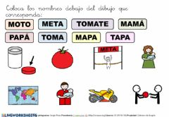 Interactive worksheet Colocar los nombres