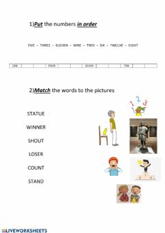 Ficha interactiva Numbers and vocabulary