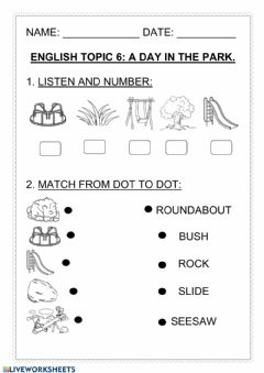 Interactive worksheet Topic 6 review