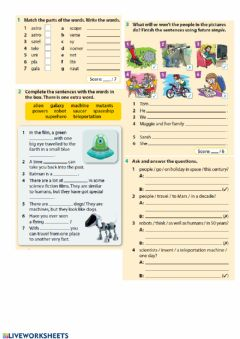 Interactive worksheet Junior explorer 6 revision 6