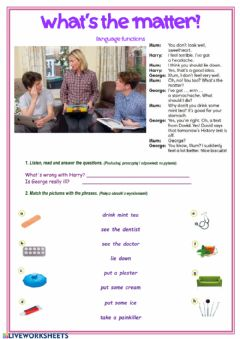 Interactive worksheet What'the matter?