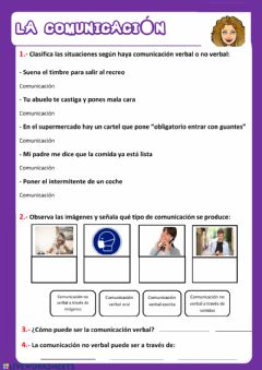 Interactive worksheet La comunicación