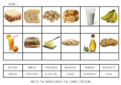 Interactive worksheet UNIT 5 - Food vocabulary 1