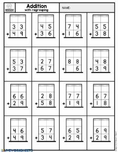 Interactive worksheet Addition practice