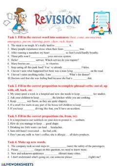 Interactive worksheet Revision Module 7 9th