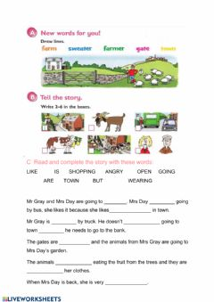 Interactive worksheet The neighbours