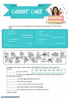 Interactive worksheet Recipe