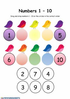 Interactive worksheet Arranging numbers 1-10
