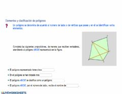 Interactive worksheet Poligonos