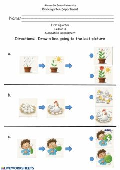 Interactive worksheet Summative Assessment - Sequencing