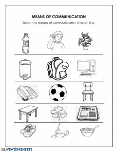 Interactive worksheet Means of Communication