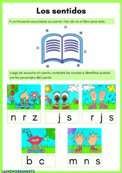 Interactive worksheet Los sentidos 1