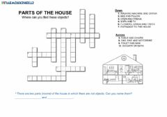 Interactive worksheet The house-Wordcross