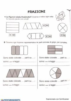 Interactive worksheet Frazioni