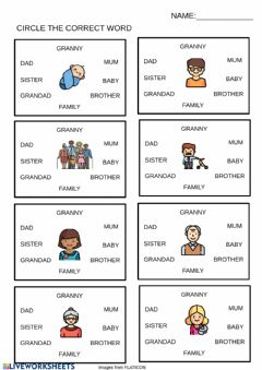 Interactive worksheet Select the correct word
