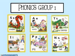 Ficha interactiva Phonics group 1