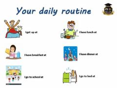 Ficha interactiva Daily Routines times